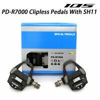 105 PD-R7000 Carbon SPD-SL Road Bike Bicycle Pedals Set w/SM-SH11 Cycling Pair