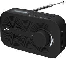 Portable DAB FM Digital Radio LCD Display Mains or Battery & Dual Alarm - Black