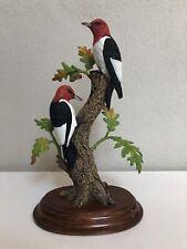 "Danbury Mint - Bob Guge - ""Fall Drummers� - Red-Headed Woodpecker Bird Figurine"
