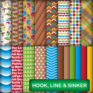 HOOK, LINE & SINKER SCRAPBOOK PAPER - 19 x A5 Pages