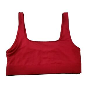 "Victoria's Secret ""PINK"" Bra Medium Red Ultimate Lightly Lined Sports Bra Gym"
