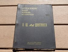 WW2 Era US Army Air Force Whitaker Aviation Parts Supply Accessories Catalog