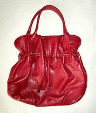 LARGE RED PURSE HOBO BAG with INSIDE ZIPPER POCKETS