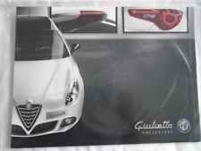 Alfa Romeo Giulietta Collezione brochure Sep 2015