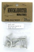 Knuckleduster OW28-406 Hitching Rails & Pump (The Old West) Terrain Scenery NIB