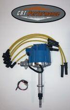 NEW Jeep AMC GM HEI Distributor + Plug Wires CJ5 CJ7 YJ 258 4.2L - BLUE / YELLOW