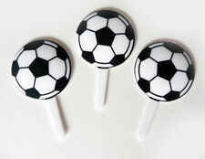 Set of 18 Soccer Ball Cupcake Picks Cake Toppers Decorations Sports