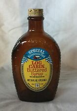 Vintage Log Cabin Buttered Syrup Special Bicentennial Flask Brown Bottle W/ Cap
