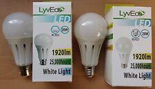 20w LED GLS Light Bulbs Lamp BC B22 ES E27 125w 1 2 4 Bulbs Great Value!
