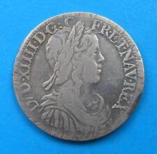 Louis XIV 1/2 demi écu 1651 9 Rennes Bretagne
