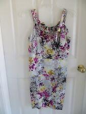 NWT - Loft Petite sleeveless sun dress - 4P - multi color floral on light grey