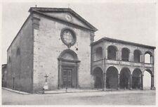 D6895 Figline Valdarno - Esterno della Collegiata - Stampa d'epoca - 1930 print