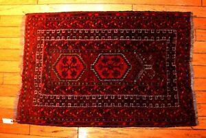 "A Rare Antique Yomud Turkoman Prayer Rug  2'4"" x 3' 5"""