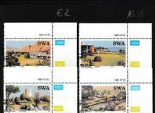 Namibië - Southwest 609-612 (compleet.Kwestie.) gestempeld Eckrandstücke mit Aus