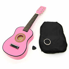 Ts-ideen 5245 Guitare Acoustique pour enfant Rose