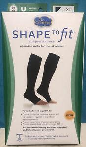 Dr. Comfort Open Toe Shape To Fit 20-30 mmHg Compression XL Unisex Black Cotton
