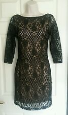 Topshop black lace dress, size 6, BNWT