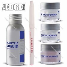 THE EDGE Nail Acrylic Liquid & Powder Trial Starter Beginner Kit False Nails