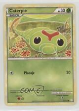 2010 Pokémon HeartGold & SoulSilver Base Set Spanish #57 Caterpie Card 2f4