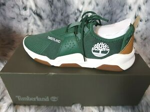 NEW TIMBERLAND EARTH RALLY OXFORD MEN'S GREEN KNIT TRAINERS SIZE UK 8.5 RRP £90