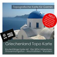 Griechenland Topo Karte 10m Höhenlinien 4GB microSD für Garmin Navi, PC & MAC
