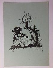 """"""" ange, bougie, flûte, oiseau """" 1947, Papier découpé, Lilo Pannwitz (45611)"""