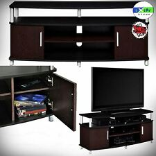 TV STAND FLAT MODERN MEDIA CENTER ENTERTAINMENT FURNITURE ROOM WOOD CONSOLE RACK