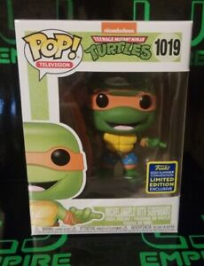 Funko POP! Michelangelo With Surfboard #1019 SDCC 2020 In Hand Ready To Ship!!!!