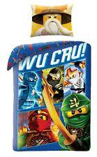 LEGO NINJAGO Movie Wu Cru! Kids Bed Duvet Cover Set 100% COTTON