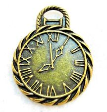 25Pcs. WHOLESALE Tibetan Antique Bronze POCKET WATCH Clock Charms Pendants Q1078