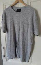 mens pull and bear black label collection grey t shirt size L