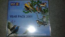 Malta Post Year Pack 2001 MNH Sets, Mini Sheets and Souvenir Sheets