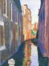 Pastello Canale IN Venezia Water Street Italia Helge Engelbrecht 1919-1991