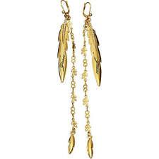 Guess Gioielli Orecchini Pendenti Piuma Dorati UBE21316 Gold Strass Woman Uhr
