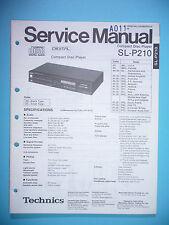 Service Manual-Anleitung für Technics SL-P210 ,ORIGINAL