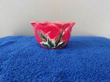 Cerified International Nut/Snack Bowl Christmas Holly Susan Winget