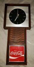 "Coca-Cola Clock Coca Cola Coke Vintage Benco Wall Clock 26 1/2"" Tall"