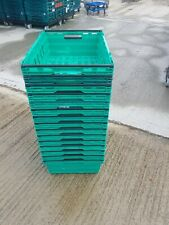 More details for 15 x plastic bale arm tray / crate box 60-40-20cm storage / removals