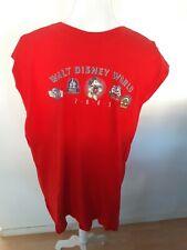 Disney Parks Sleeveless Tank Shirt Size XL Red 2005 Epcot Magic Kingdom MGM