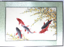 Beautiful Handmade Finished Embroidery of Five fish
