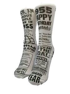 Born In 1955 Happy Birthday Socks Personalised Gift Great Novalty Fun Present