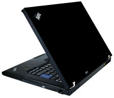 BLACK Vinyl Lid Skin Cover Decal fits IBM Lenovo ThinkPad T61 Laptop