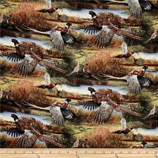 Wild Wings Scenic Feathered Run Pheasants 100% cotton fabric by the yard