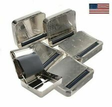 Silver Automatic Rolling Machine Tin Box Metal Roller Cigarette Tobacco Roll Ho
