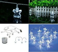 Set of 2 Angel String Garland Fairy Light With 10 Led's White Christmas Lights