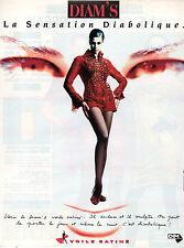Publicité Advertising 1991 Lingerie DIM collant voile satiné bas DIAM'S