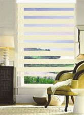 MODERN Zebra Double Roller Blinds Commercial Quality Beige