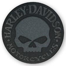 Harley-Davidson Aufnäher Skull rund schwarz