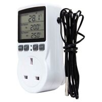 Digital Temperature Controller Thermostat Outlet Socket Plug Heating Coolin W5W5