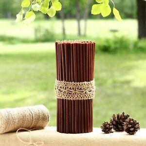 🟤 Thin 205x6.6mm Handmade 100% Natural Beeswax Altar Church Orthodox Candles